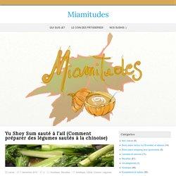 Yu Shoy Sum sauté à l'ail (Comment préparer des légumes sautés à la chinoise) - Miamitudes