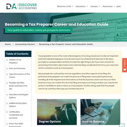 Tax Preparer Degree, Career and Salary Guide - Discover Accounting