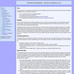 Communication et techniques de ventes pearltrees - Entretien d embauche cabinet d avocat ...