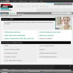 Préparer le CRPE : externe, interne et 3e concours - CNED