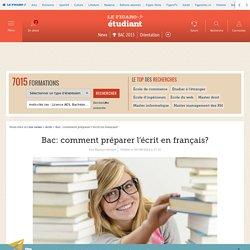 Bac: comment préparer l'écrit en français?