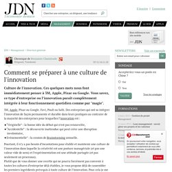 Comment se préparer à une culture de l'innovation