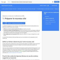 1. Préparer le nouveau site - Aide Search Console