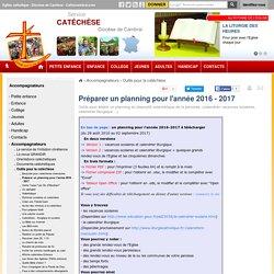 Préparer un planning pour l'année 2016 - 2017