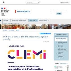 L'EMI avec le Clemi en 2018-2019 : Préparer une progression annuelle