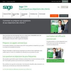Sage CRM - Comment se préparer aux questions et aux objections des clients ? - France
