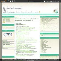 Préparer la rentrée scolaire cycles 1 et 2 (sous main,prénom, conseils, emploi, ...)