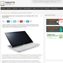 LG préparerait une concurrente à la Surface Pro 3 de Microsoft