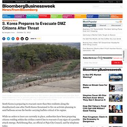 S. Korea Prepares to Evacuate DMZ Citizens After Threat