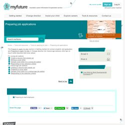 Preparing job applications - myfuture