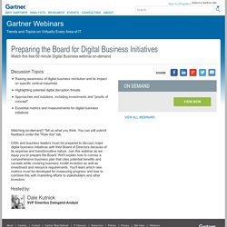 Preparing the Board for Digital Business Initiatives