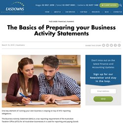 5 Tips in Preparing your Business Activity Statements