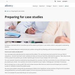 Preparing for case studies - Advancy