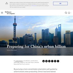 Preparing for China's urban billion