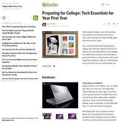 Preparing for College: Tech Essentials for Your First Year