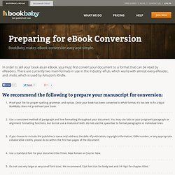 Preparing Your Book for eBook Conversion | BookBaby