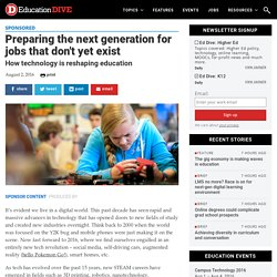 Preparing the next generation for jobs that don't yet exist