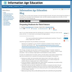 Preparing Students for Their Futures - Information Age Education - IAE Blog