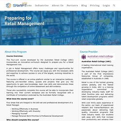 Retail Management Training eLearning Course - Preparing For Retail Management