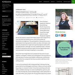 Preparing Your Nanowrimo Writing Kit