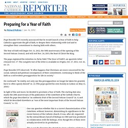 Preparing for a Year of Faith