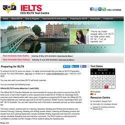 Preparing for IELTS - CES is an official ielts exam centre in Dublin city