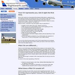 Preparing your Pilot CV