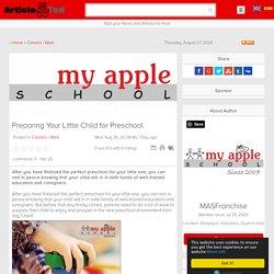 Preparing Your Little Child for Preschool