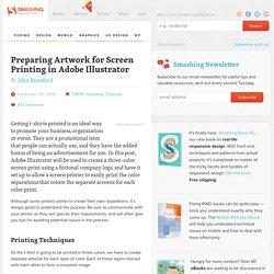 Preparing Artwork for Screen Printing in Adobe Illustrator – Smashing Magazine