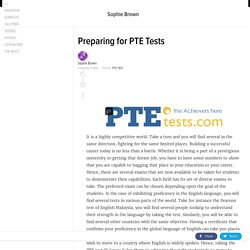Preparing for PTE Tests