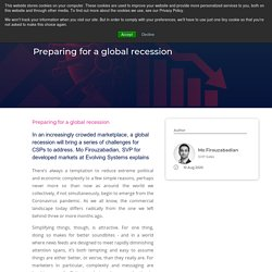 Preparing for a global recession