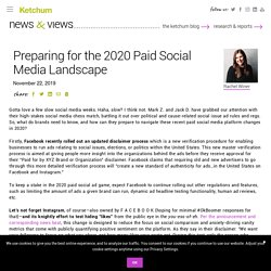 Preparing for the 2020 Paid Social Media Landscape