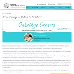 Are we preparing our students for the future? - Oakridge