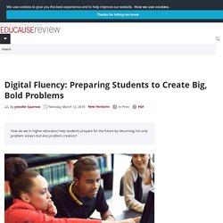 Digital fluency vs. digital literacy