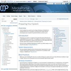 Preparing Your System - MediaPortal Wiki