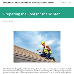 Preparing the Roof for the Winter