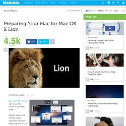 Preparing Your Mac for Mac OS X Lion