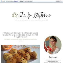 """""""Trick or treat!"""" Préparons des biscuits à la courge pour fêter Halloween!"""
