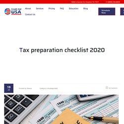 Tax Prepartion Checklist 2020 - Creditaidusa