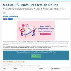PrepLadder's Championship Exams: Practice & Prepare at All India level