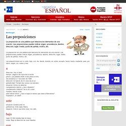 Las preposiciones - Morfología - Gramática