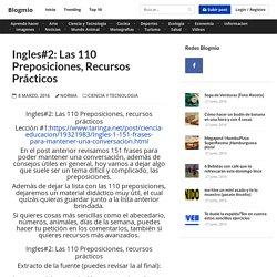 Ingles#2: Las 110 Preposiciones, recursos prácticos - Blogmio