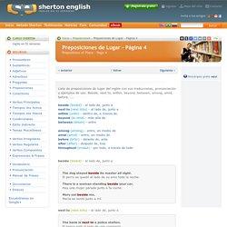 Preposiciones en Inglés de lugar (Página 4)