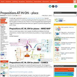 Blog Archive Prepositions AT IN ON - place » ENGAMES