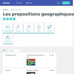 Les prepositions geographques pour les pays d'Afrique Flashcards