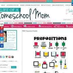 *FREE* Prepositions Printable - Life of a Homeschool Mom
