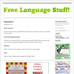 Free Language Stuff