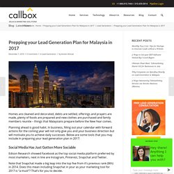Prepping your Lead Generation Plan for Malaysia in 2017