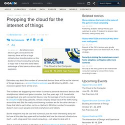 Prepping the cloud for the internet of things