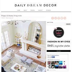 Preppy & dreamy living room